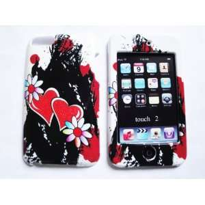 Ipod Touch 2nd 3rd Generation Glitter Hearts in Black Design Case