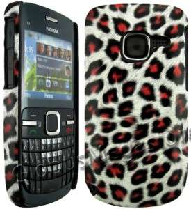 PiNK LEOPARD BACK CASE COVER SKiN POUCH for NOKiA C3