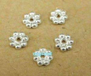 Findings Spacer Beads Silver Plated 300pcs Daisy Flower
