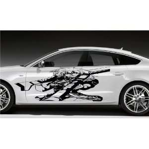 ANIME GIRL WITH GUN WEAPON CAR VINYL STICKER D1575 Home