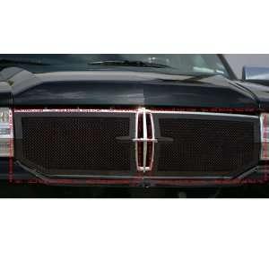 Upper Class Mesh Black Powder Coat Steel Grille   2 Piece Automotive