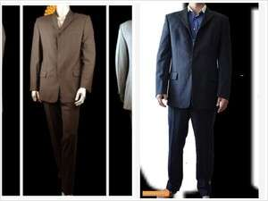 MEN TWO ZARA 4 button Wool Casual Suit Jacket & Pants Sz L $500