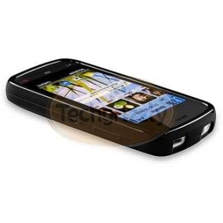 Black TPU Gel Case Cover Skin for Nokia C5 03 Mobile