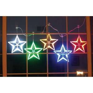 HomeBrite Multi Color LED Light Stars Set of 5