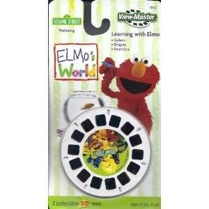 Sesame Street   Elmos World 3d View Master 3 Reel Set Toys & Games