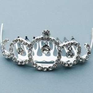 1 1/4? Round Crystal Dangle Tiara Comb Beauty