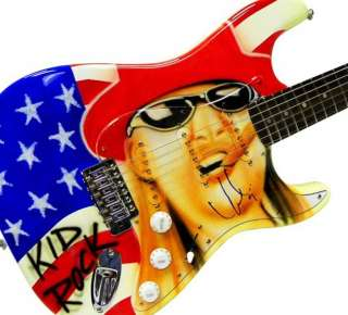 Kid Rock Autographed American Bad A$$ Signed Airbrushed Guitar