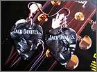 jack daniels old no 7 guitar pick earrings silver plated
