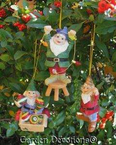 GNOME CHRISTMAS ORNAMENTS Lights Tree Star THEYRE JUST TOOOO CUTE
