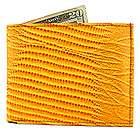men light brown snake skin genuine leather bi fold wall