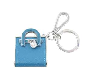 Michael Kors Turquoise Hamilton Satchel Key Chain Charms New
