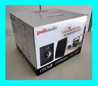 POLK AUDIO OWM3 ON WALL SURROUND SPEAKERS NEW ★BLACK★