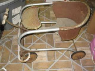 /Wood Thayer Toddler Baby Walker/Stroller 1930s/40s Wooden Handle