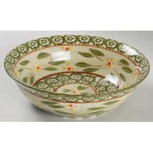 Temp Tations Old World Green Soup/Cereal Bowl, Fine China