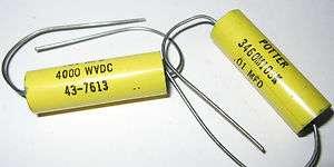 Metalized Mylar Capacitor 4kV .01uF   POTTER   4000v 10000pF 43 7613