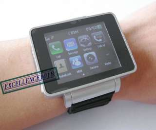 I5 BLACK TOUCH SCREEN WATCH CELL PHONE  CAMERA WATCH MOBILE