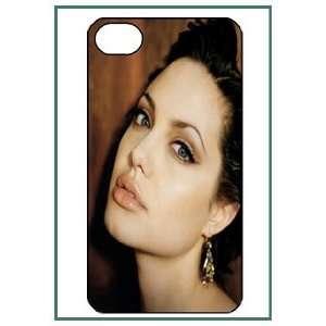 Angelina Jolie iPhone 4 iPhone4 Black Designer Hard Case