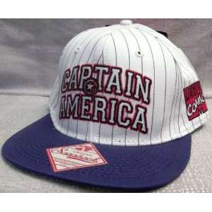 Marvel Comics CAPTAIN AMERICA Embroidered Snapback Flatbill Baseball