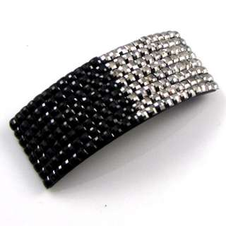 ADDL Item  1 pc crystals Acrylic hair barrette clip
