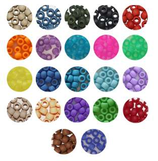 MATTE FROSTED CROW BEADS PONY BEADS 6x9mm BeadExplosion
