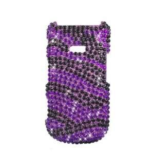 Factor M260 Accessory   Purple Zebra Full Rhinestones Hard Case