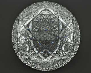 Beautiful Antique ABP Cut Glass Bowl Early 1900s