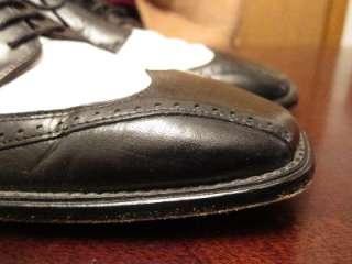 Adams Mens Spectator Hipster Mod Rockabilly Wingtip Dress Shoes Sz 9MD