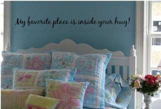INSIDE YOUR HUG Vinyl wall words decal/quote/sticker