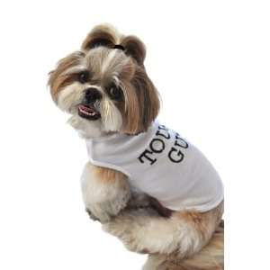 and Meow Dog Tank Top, Tough Guy, White, Extra Small: Pet Supplies