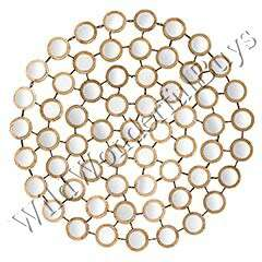 Multi Modern Circles Round WALL MIRROR Gold NEW