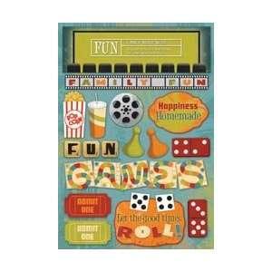 Karen Foster Family Fun Cardstock Stickers 5.5X9 Family Fun Night; 6