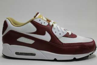 Nike Air Max 90 White Team Red Gold Authentic Running Sneakers Mens