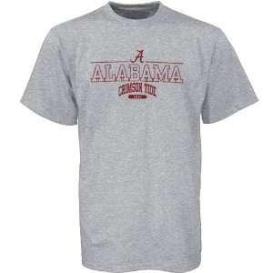 Tommy Hilfiger Alabama Crimson Tide Ash Team Logo Short Sleeve T shirt