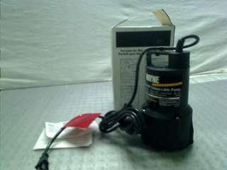 RUP160 1/6 Horsepower 3,000 GPH Oilless Submersible Utility Water Pump