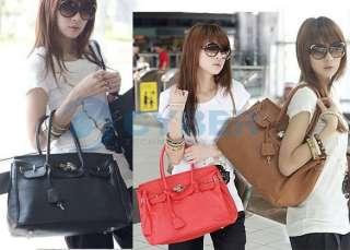Star Fashion Retro Lock handbag lady PU Leather shoulder tote bag W31