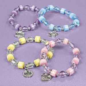 Pastel Beaded Best Friends Bracelet Set (Assorted) Toys & Games