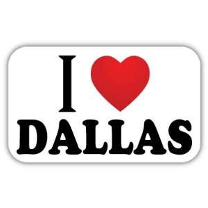 Love DALLAS Car Bumper Sticker Decal 5 X 3