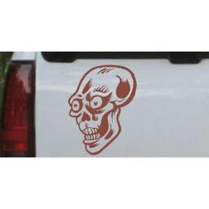 3in    Big Eyed Skull Car Window Wall Laptop Decal Sticker Automotive
