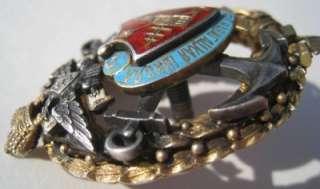 Imperial Russia enamel silver badge, Russian medal