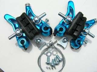 Mountain Bike MTB Cantilever Brake Set   BLUE ANODIZED