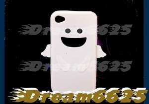 Silicone Case Cover Skin Iphone 4 4G white angel cute