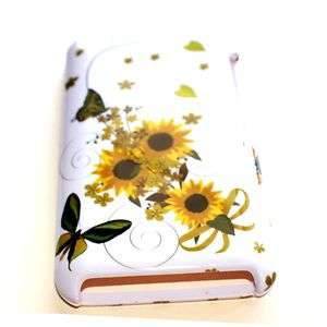 FLOWERS BUTTERFLY HEART WHITE Hard Case Cover for iPod Touch 4th GEN