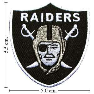 Oakland Raiders Football Logo Iron on Patch From Thailand