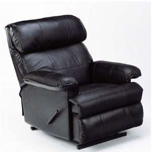 Rocker Recliner Chair Black Leather Match