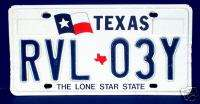 Texas Flag License Plate Tag Lone Star State
