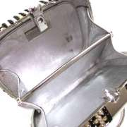 JUDITH LEIBER Swarovski Crystal Minaudiere Clutch Bag