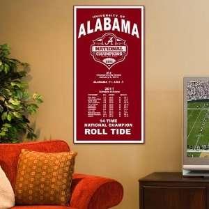 NCAA Alabama Crimson Tide 2011 BCS National Champions Crimson 18 x 36