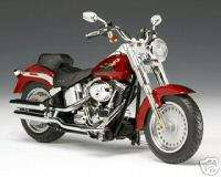Harley Davidson FLSTF Fat Boy in Candy Red Sunglow NEW