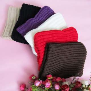 Lady Knitted Neck Circle Cowl Scarf Shawl Wrap Loop Warmer Winter Hood