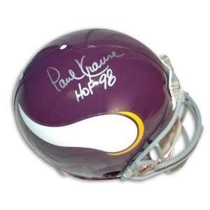 Autographed Paul Krause Minnesota Vikings Throwback Proline Helmet